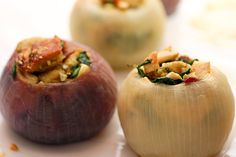 Roasted Stuffed Onions with Stuffing. om nom nom!