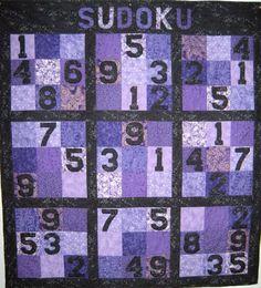 Sudoku puzzle quilt