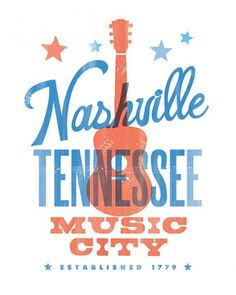New:  Music City! Nashvegas! #Nashville City Prints on BourbonandBoots.com