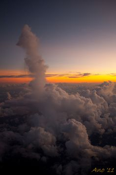 Clouds at 30,000 feet over Miami