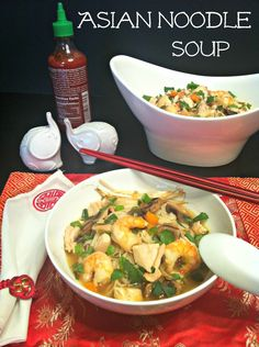 Asian Noodle Soup (Sub tamari for soy sauce!)