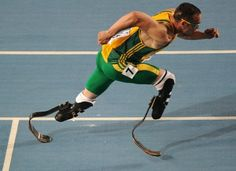"""Being disabled doesn't have to be a disadvantage."" -- Oscar Pistorius, or the ""Blade Runner,"" an Olympian from South Africa who has never considered his amputated legs a disability."