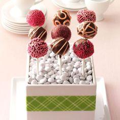 Raspberry Truffle Cake Pops Recipe from Taste of Home