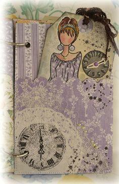 Julie Nutting with G45 Secret Garden paper. paper craft, cardsgraph 45, paper doll