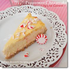 Peppermint Cheesecake.  Made with those cheap little red and white peppermints.