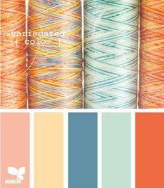 variegated color
