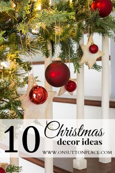 10 Christmas Decor Ideas that are easy and budget friendly. Great inspiration!