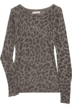 Leopard-print Sweater; Rebecca Taylor