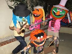 Funnest Group Costume Ever: The Electric Muppet Mayhem Band!... Coolest Halloween Costume Contest