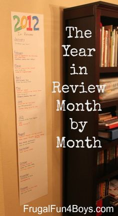 Family Activity - Remember the Year Month by Month