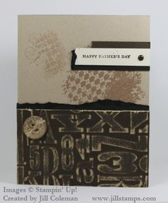 Dad and Grad: One Layout - Two Cards. Features Stampin' Up!'s Alphabet Press Embossing Folder and Core'dinations card stock.