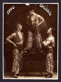 The Trio Bagdad Circus Performers