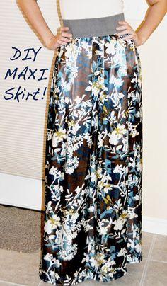 DIY: Maxi Skirt Tutorial - Easy!