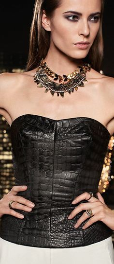 croc-embossed-leather-bustier.