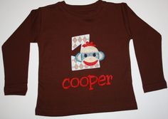 sock monkey birthday shirt http://www.sheshemade.com/item_47/Sock-Monkey-Birthday-Shirt.htm