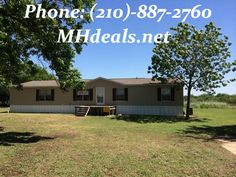 5.12 acres in Natalia, TX 5 bedroom 3 bathroom. 2176 square feet Doublewide Manufactured home. (210)-887-2760 http://mhdeals.net/gallery/used-double-wide-mobile-homes/2006-Clayton-Freedom-I-Used-Doblewide-Manufactured-Home-land-Natalia-TX