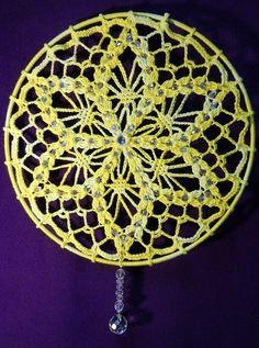Delicate sun catcher ~ by Bethel of Bethania  #crochet