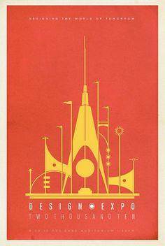 2010 Design Expo poster // #graphicDesign