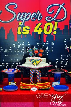 Superhero 40th Birthday