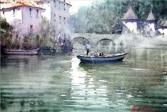 Joseph Zbukvic, Watercolors watercolor landscap, art watercolor, art admir, joseph zbukvic, watercolor paint, artist, boat, blog, watercolour