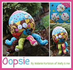 Free Melly & Me pattern! <3 this crazy cute guy! Look at those yo-yos!!