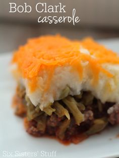This Bob Clark Casserole is a delicious twist on shepherd's pie that your family will love! | SixSistersStuff.com