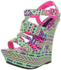 Dollhouse Womens Electric Wedge Sandal