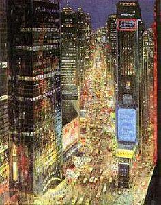 Peter Ellenshaw Times Square - New York City  Gorgeous Print!!!
