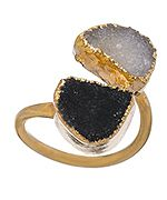 Charlene K Black and White Double Druzy Ring