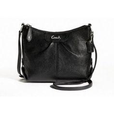 Amazon.com: Coach Ashley Leather Swingpack Crossbody Messenger Bag Purse 46872 Black: Clothing