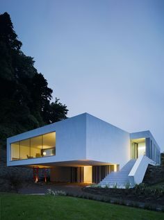 white box house