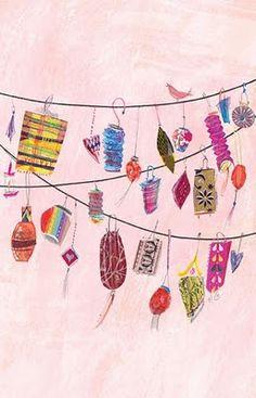 quirky lantern illustration,Laura Hughes