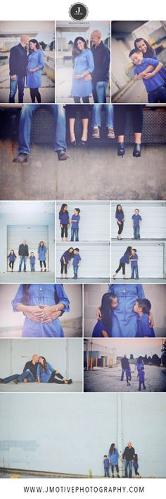 Fun family and maternity photo shoot in an Urban Location