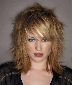 Blonde medium length