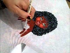 Pintura em tecido - Boneca Marli - Como pintar boneca negra 2/2 - how to paint black doll - YouTube