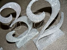 Glitter Table Numbers by DreamMakersInvites on Etsy