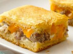 Sausage and Cheese Crescent Squares from Pillsbury