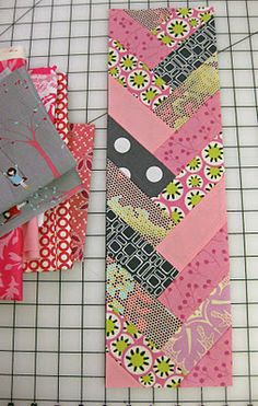 "Braid block is about 5.5"" x 17"".  No pattern... just strips 2"" wide.... and varying from 5-6"" long."