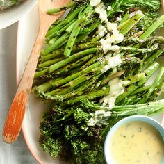 Grilled Vegetables with Summer Hollandaise | More Grilled Vegetables: http://www.bhg.com/recipes/vegetarian/grilled-vegetables/grilled-vegetarian-side-dishes/ #myplate