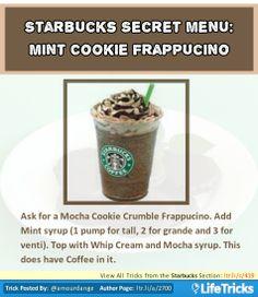 Starbucks Secret Menu: Mint Cookie Frappuccino