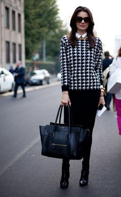 Houndstooth style.