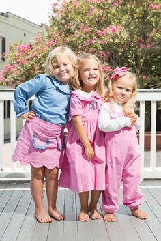 So cute for sisters!  Love the pink!