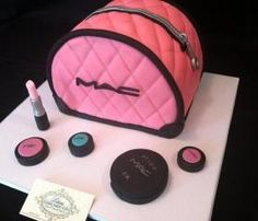 Fondant Make-up Logo,Inspired by Mac-Makeup Logo for cakes, cupcakes, or Fondant make-up accessories