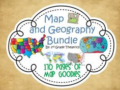 Map Skills Bundle~  The mega unit is 170 pages of map goodies. It includes Introduction to Map Skills, Map Skills: Equator and Prime Meridian, Map Skills: Treasure Hunts, U.S. Geography and State Capitals, and Map Skills: Integrated Compass Rose and Creative Writing. $$