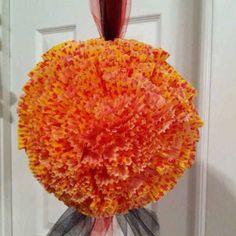 Styrofoam ball with cupcake holders