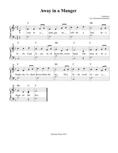 Away In A Manger Christmas Sheet Music and Song for Children!