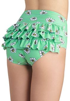 Vacation Daisies Swimsuit Bottom, #ModCloth