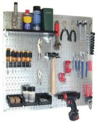 Use a pegboard to keep tools organized in your garage, while still keeping them handy for use as needed.