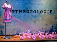 poodles #Anthropologie, #window_display, #installation, #poodle, #balloons, #pink
