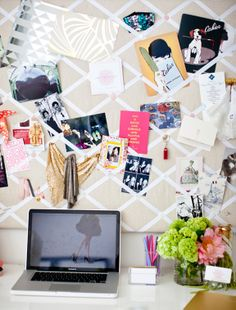 inspiration pin board for an office